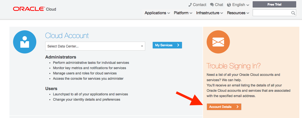 Cannot Log In to Oracle Cloud Service? — munz & more